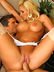 Office Sex, Sexy big tits blonde phoenix rides a hard cock and gets a load on her beautiful tits in this vid and pics