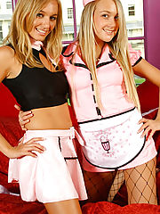 Hayley-Marie & Lucy-Anne are 'pretty in pink' in these cute outfits over their cotton panties