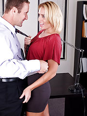 Sexy Secretary, Jamey Janes gets fucked hard in the office!