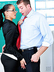 Hot teacher Angel Dark gets her tight pussy fucked
