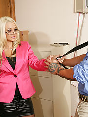 Sultry Briana Blair gets naughty with her co-worker.