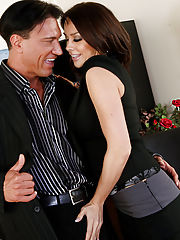 Chanel Preston gets naughty with a client and fucks on her desk.