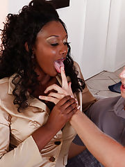 Sex Office, Nyomi Banxxx gets her sweet black pussy pounded