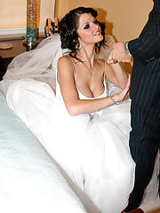 OfficesexNewlywed Joslyn gets freaky on her wedding night and lets her husband stick it in her ass for the first time.