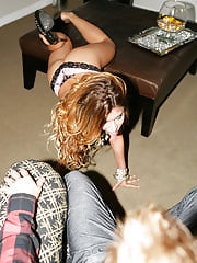 Alexa takes all of Ryan's load while they party it up in the VIP room