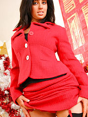 Its Xmas time in the office and the secretary wants to show you want she wears under her outfit